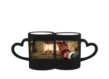 Magic - Doppel-Herz-Tasse